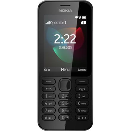 Nokia 222 Dual SIM black (LV, RUS, ENG) Mobilais Telefons