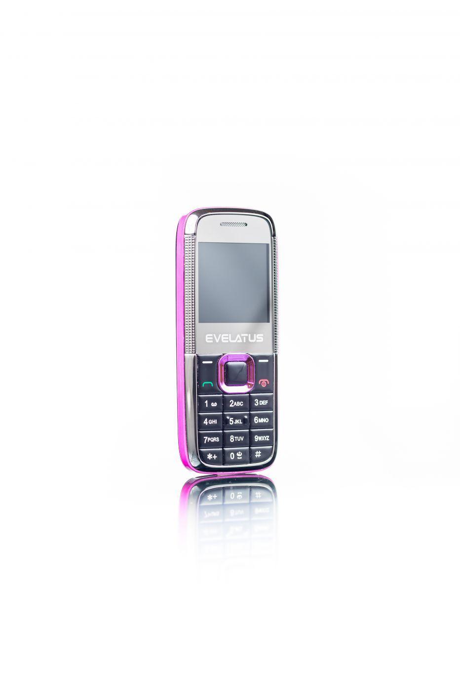 Evelatus EM01 Mini Dual SIM  black pink Mobilais Telefons