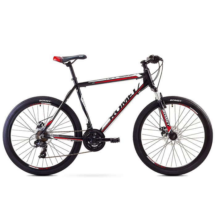 ROMET RAMBLER 26 2 MTB 19-L R26 MELNS/SARKANS kalnu velosipēds MTB
