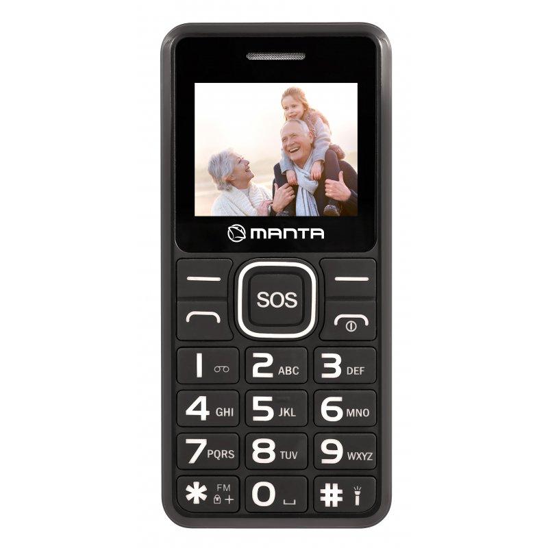 Manta Multimedia TEL1707 Senior Black Mobilais Telefons