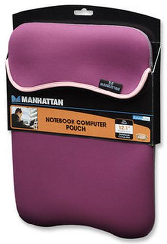 Manhattan Notebook Computer Pouch 12,1'' Reversible Purple/Beige portatīvo datoru soma, apvalks