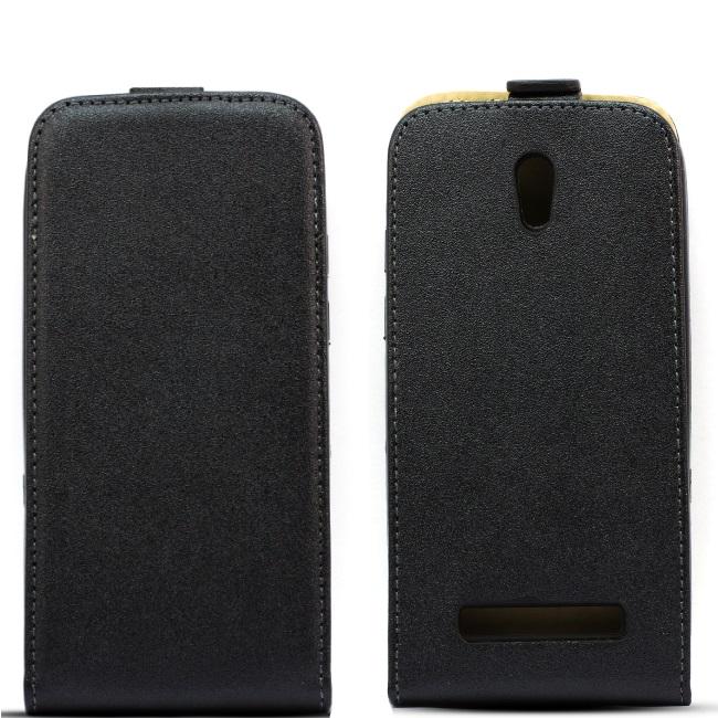 Telone Shine Pocket Slim Flip Case Nokia 630 / 635 Lumia telefona maks vertikāli atverams Melns aksesuārs mobilajiem telefoniem