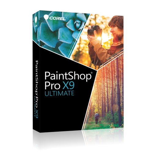 Corel PaintShop Pro X9 Ultimate ML Win Mini-Box Sprachen: EN,FR,NL,IT,ES programmatūra