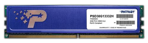Patriot DDR3  8GB 1333MHz CL9 1.5V (PSD38G13332)