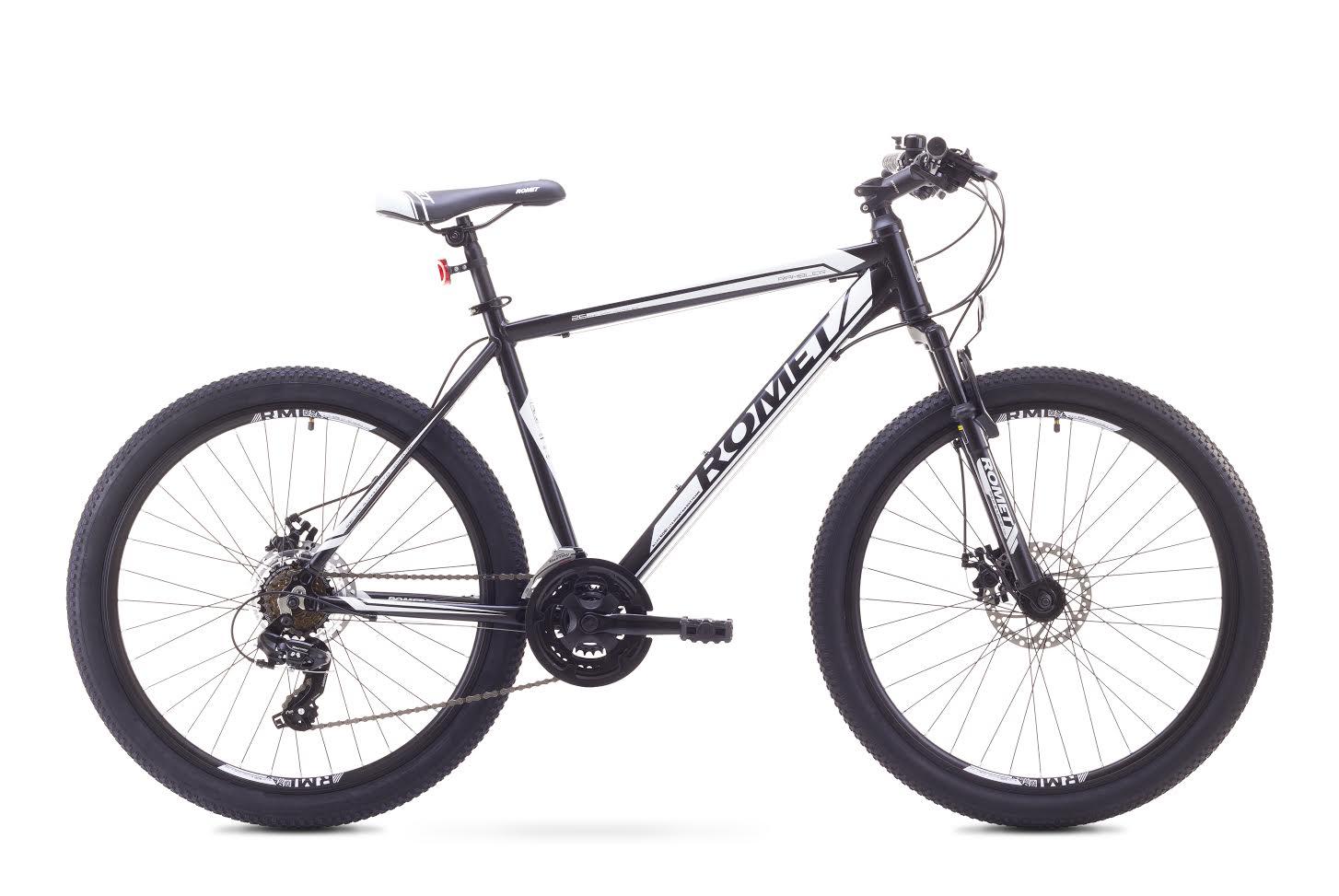 ROMET RAMBLER 26 2 MTB 17-M R26 MELNS/BALTS kalnu velosipēds MTB