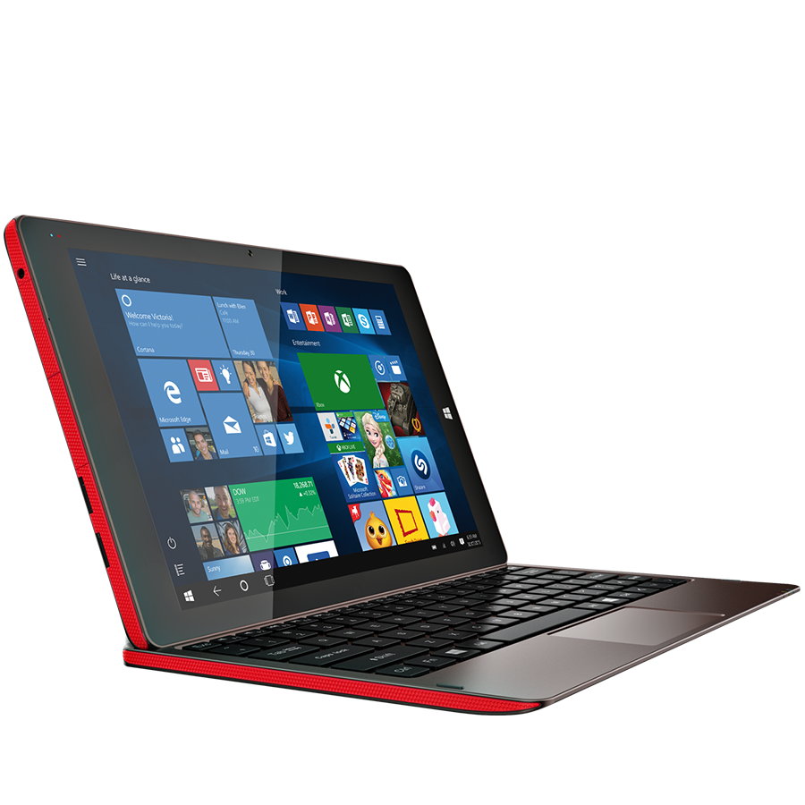 "Prestigio MultiPad Visconte V (10.1"", IPS, 1280x800, OS Windows 10 Home, Office Univ.Apps, Intel Atom Z3735F, 2GB+32GB, 2MP+2MP, 3G (900/210 Planšetdators"