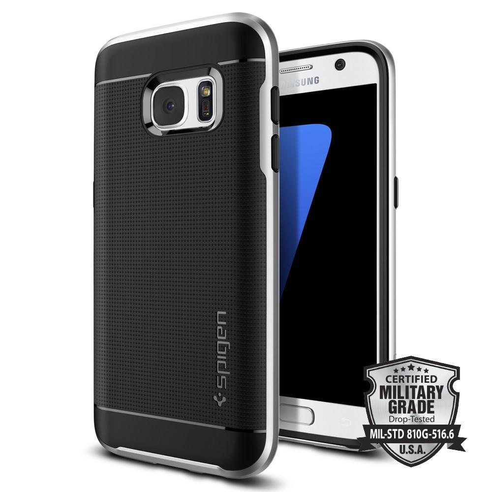 Spigen Neo Hybrid Silver Samsung S7 Case maciņš, apvalks mobilajam telefonam