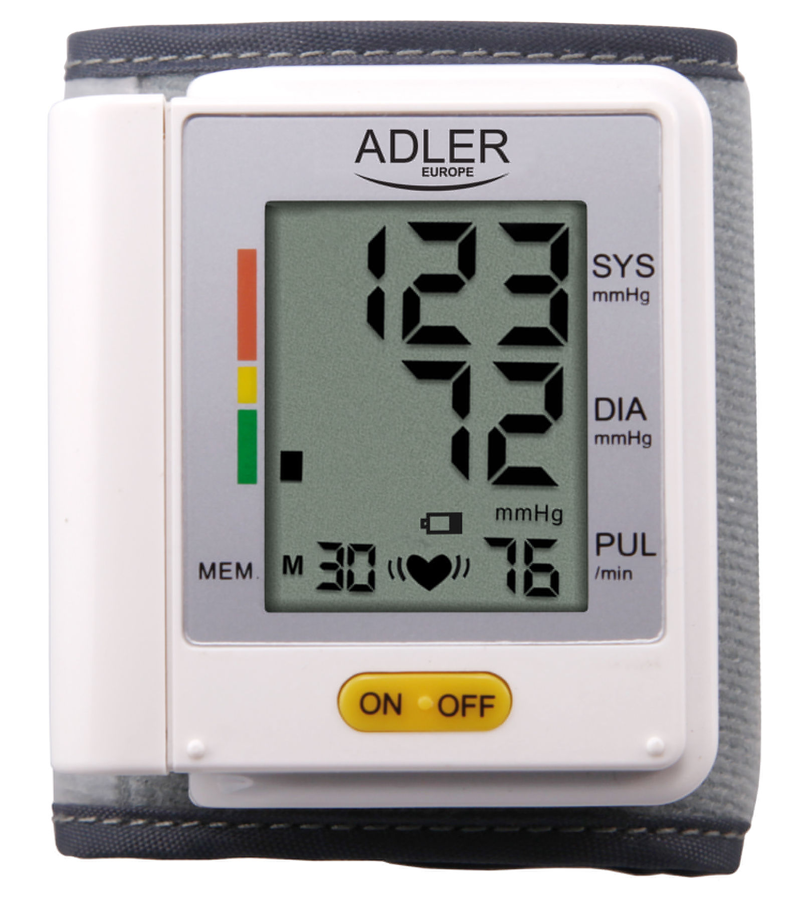 Adler AD 8411 Wrist blood pressure monitor AD 8411 Bezprocentu kredīts