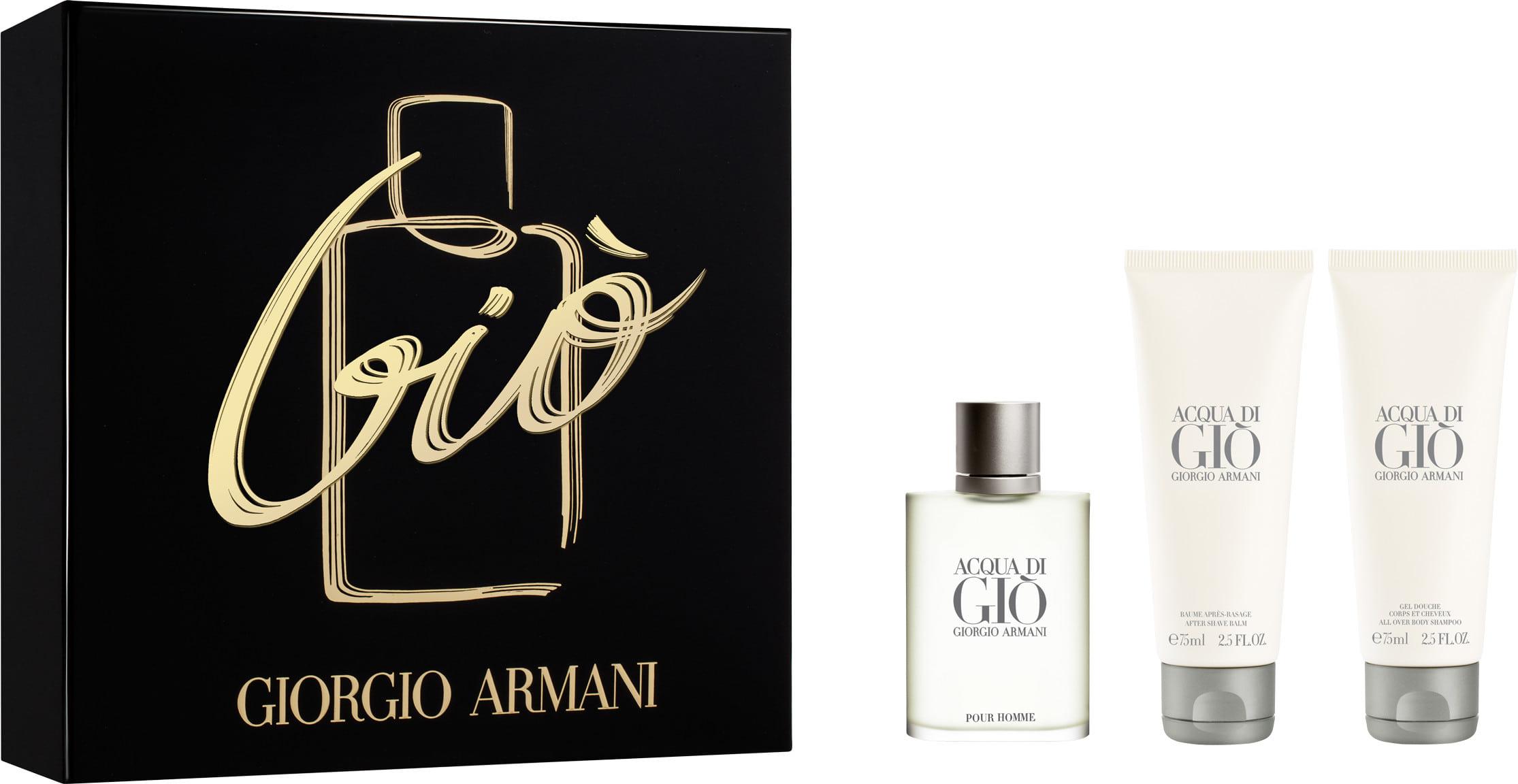 Giorgio Armani Acqua di Gio Edt 50ml + 75ml After shave balm + 75ml Shower gel 50ml Vīriešu Smaržas