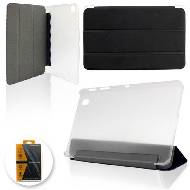 """Etui Ultra Plāns Smart Sāniski atverams maks ar statīvu Samsung Galaxy Tab 3 T110 Lite 7.0"""" Melns planšetdatora soma"""