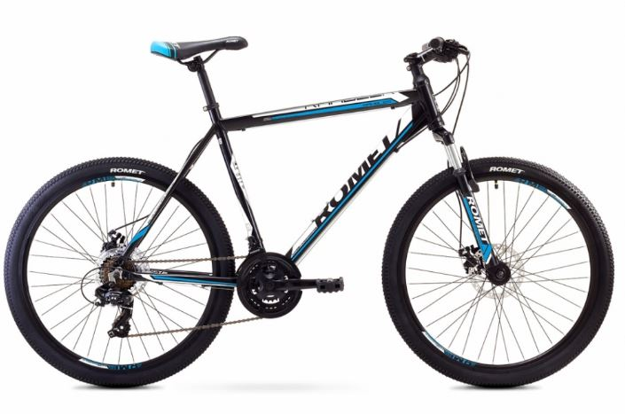 ROMET RAMBLER 26 2 MTB 19-L R26 MELNS/ZILS kalnu velosipēds MTB