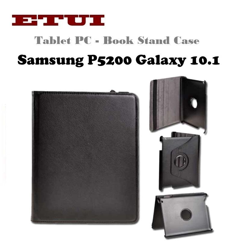 Etui Eko ādas maks ar rotējošu statīva mehānismu priekš Samsung maciņš, apvalks mobilajam telefonam