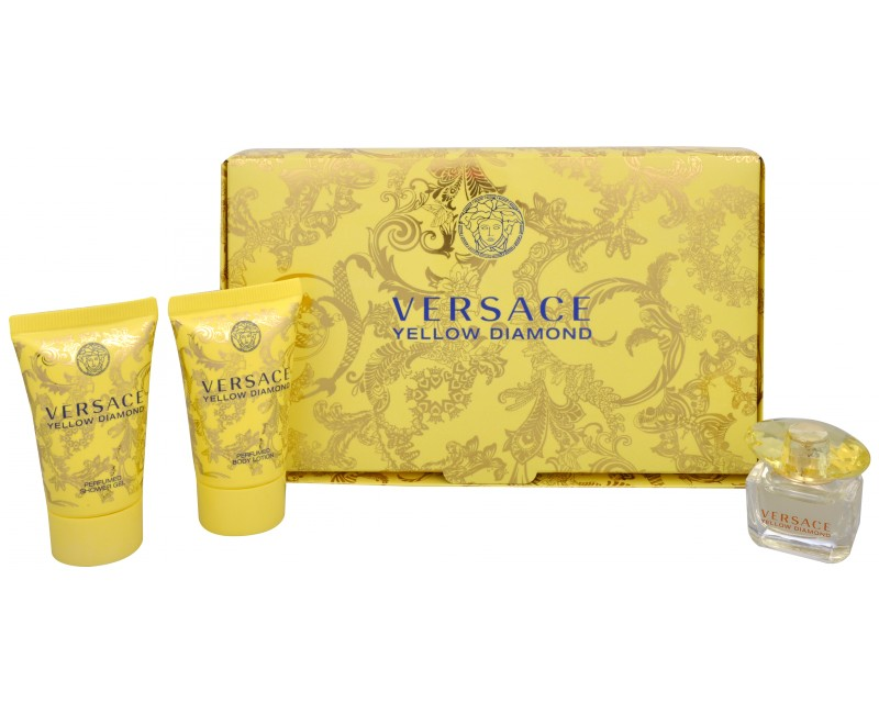 Versace Yellow Diamond Edt 5ml + 25ml Body lotion + 25ml Shower gel 5ml Smaržas sievietēm