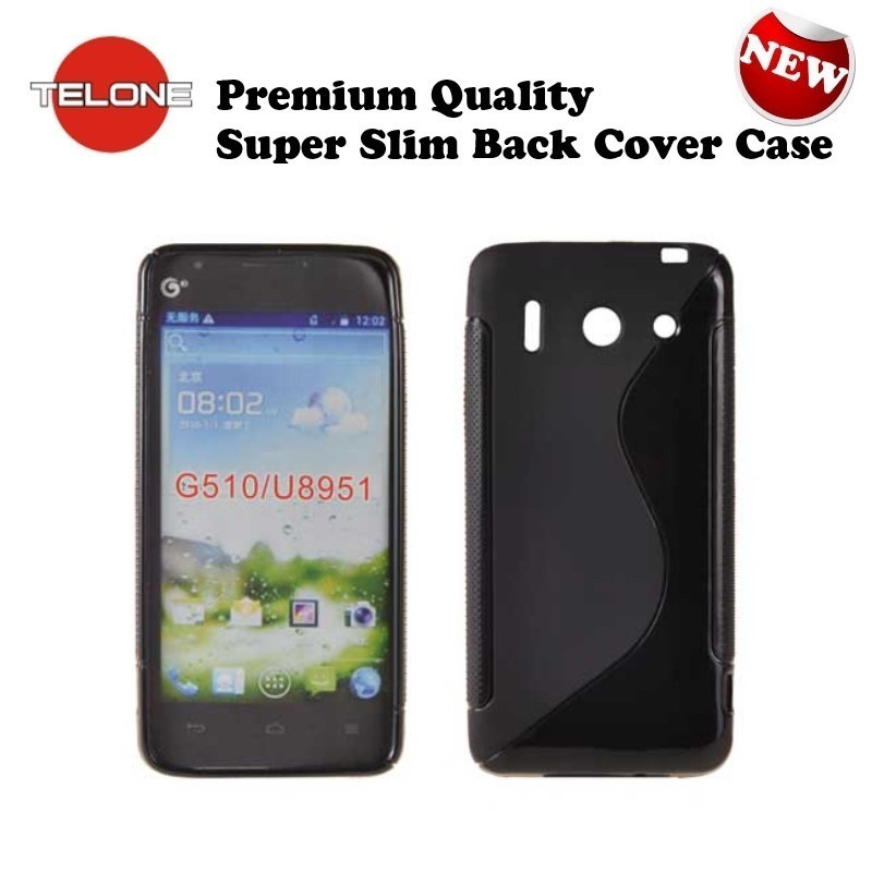 Telone Back Case S-Case gumijots telefona apvalks Huawei ( A BC SC HU G510 BK 7419 A BC SC HU G510 BK ) aksesuārs mobilajiem telefoniem