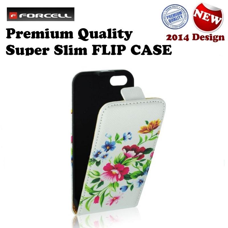 Forcell Slim Flip Pattern Samsung i9500 Galaxy S4 aksesuārs mobilajiem telefoniem