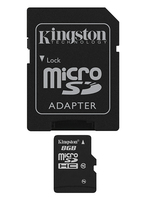KINGSTON MEMORY MICRO SDHC 8GB CLASS10/W/ADAPTER SDC10/8GB atmiņas karte