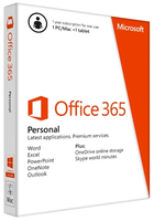 Microsoft QQ2-00038 Office 365 Personal 32/64-bit English Subscription Eurozone Medialess 1 Year