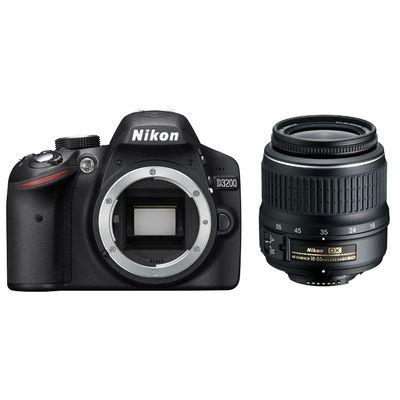 Nikon D3200 24.2Mpix 18-55 VR II Black Spoguļkamera SLR