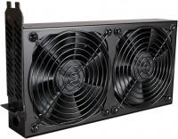 Lian Li BS-08B PCI Khler 2x 120mm - black ventilators