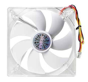 Akasa Ultra Quiet Series - Cool White - 140mm ventilators