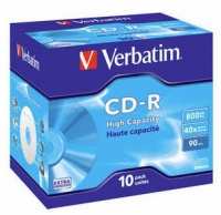 Verbatim CD-R 90/800MB 40X EXTRA PROTECTION jewel box - 4342 matricas