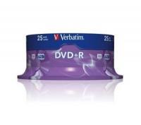 Verbatim DVD+R 4.7GB 16X 25pack AZO MATT SILVER cake box - 4 matricas