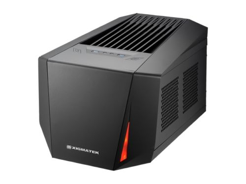 Xigmatek Octans Mini-ITX Black Steel Datora korpuss