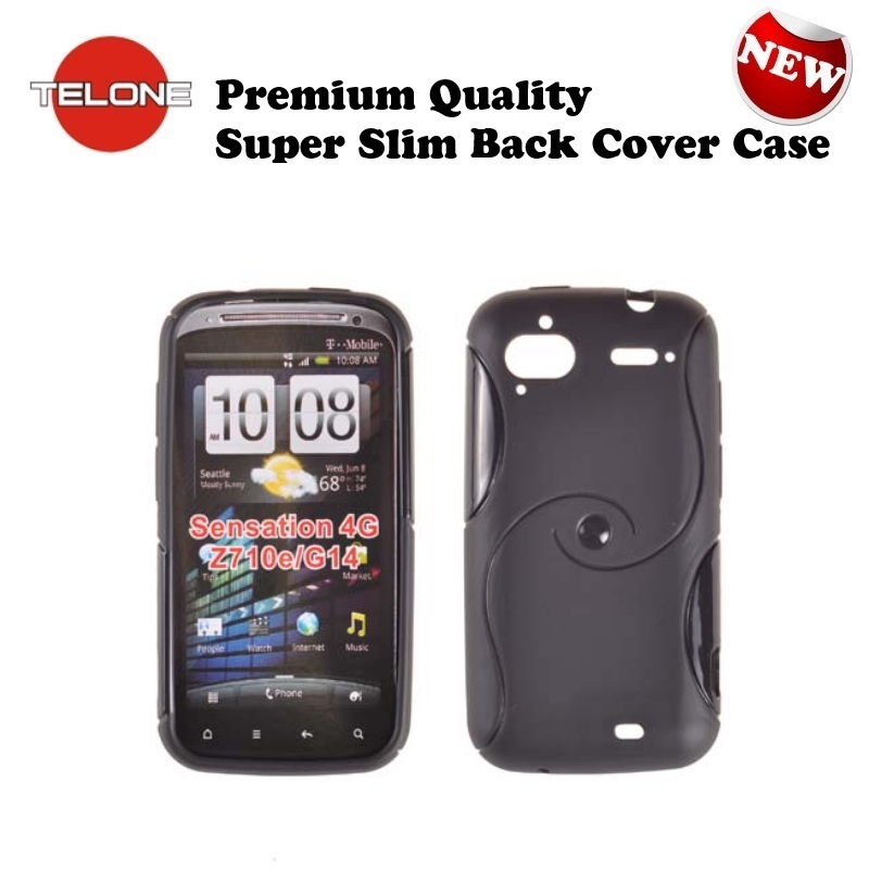 Telone Back Case S-Case gumijots telefona apvalks HTC Sensat aksesuārs mobilajiem telefoniem