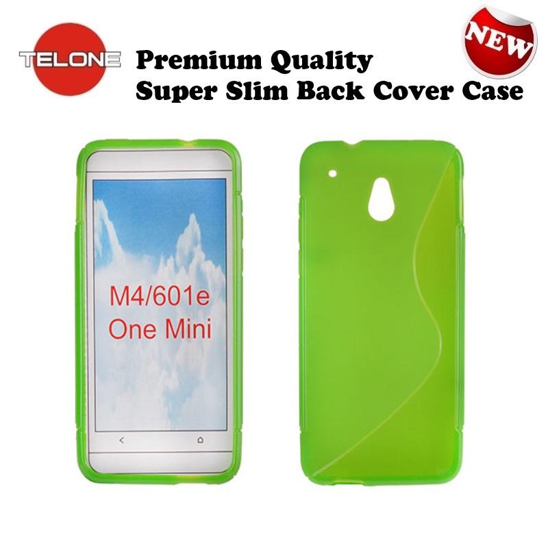 Telone Back Case S-Case gumijots telefona apvalks HTC One Mi aksesuārs mobilajiem telefoniem