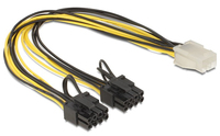 Delock Cable PCI Express power supply 6 pin female > 2 x 8 pin male kabelis datoram