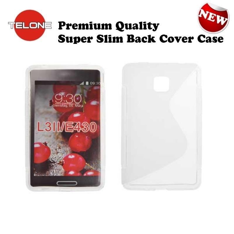Telone Back Case S-Case gumijots telefona apvalks LG E430 aksesuārs mobilajiem telefoniem