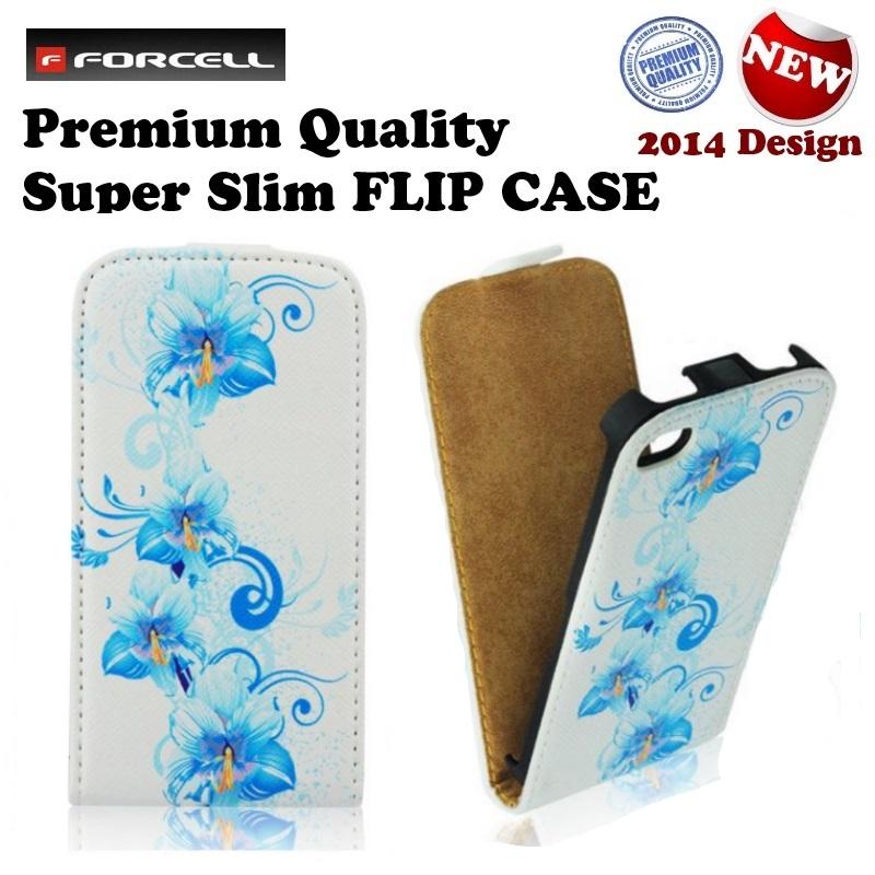 Forcell Slim Flip Pattern Samsung i9100 Galaxy S2 i9105 vertik li atverams maks ar zīmējumu Design 1 maciņš, apvalks mobilajam telefonam