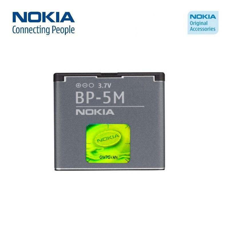 Nokia BP-5M Original Battery 5610 6500 Slide 8600 Li-Ion 900 akumulators, baterija mobilajam telefonam