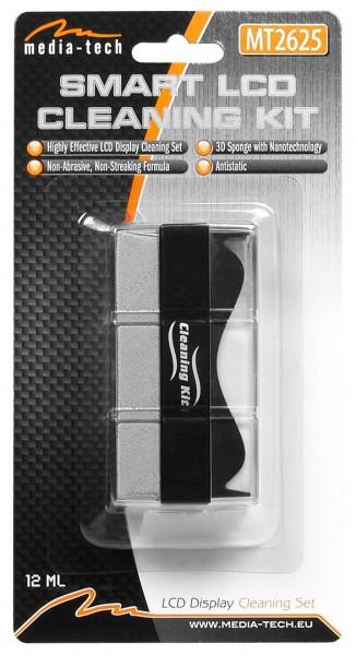 MEDIA-TECH Set of 3-side sponge with nano-fibre, antistatic tīrīšanas līdzeklis