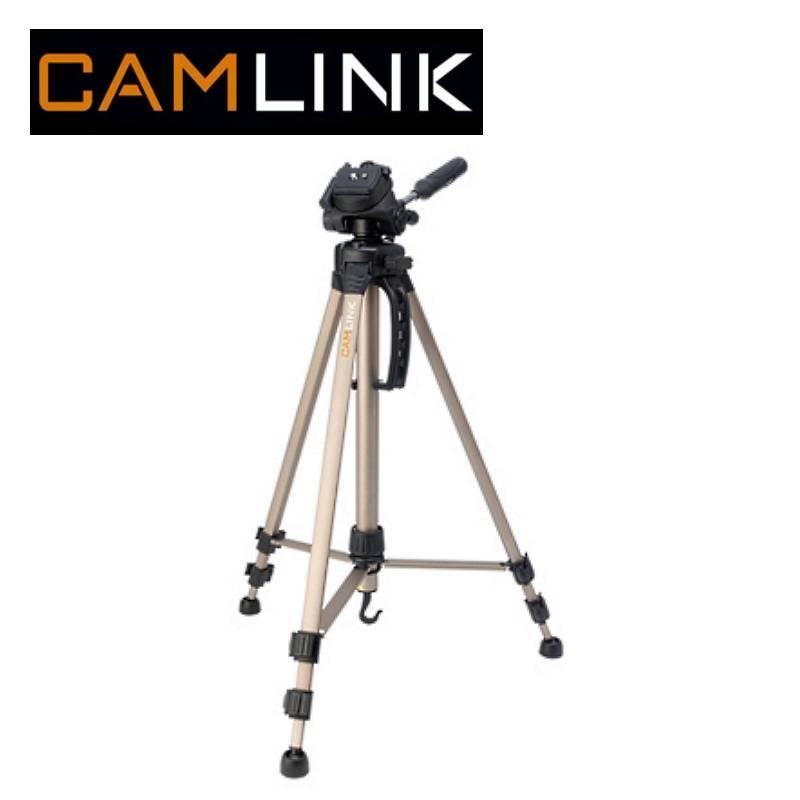 Camlink CML-CL-TP2100 Alumīnija statīvs foto/video kamer m ar 3D meh nismu (maks. augstums 145cm) statīvs