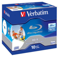 Verbatim BD-R 25GB 6X PRINTABLE HARD COAT jewel box - 43713 matricas