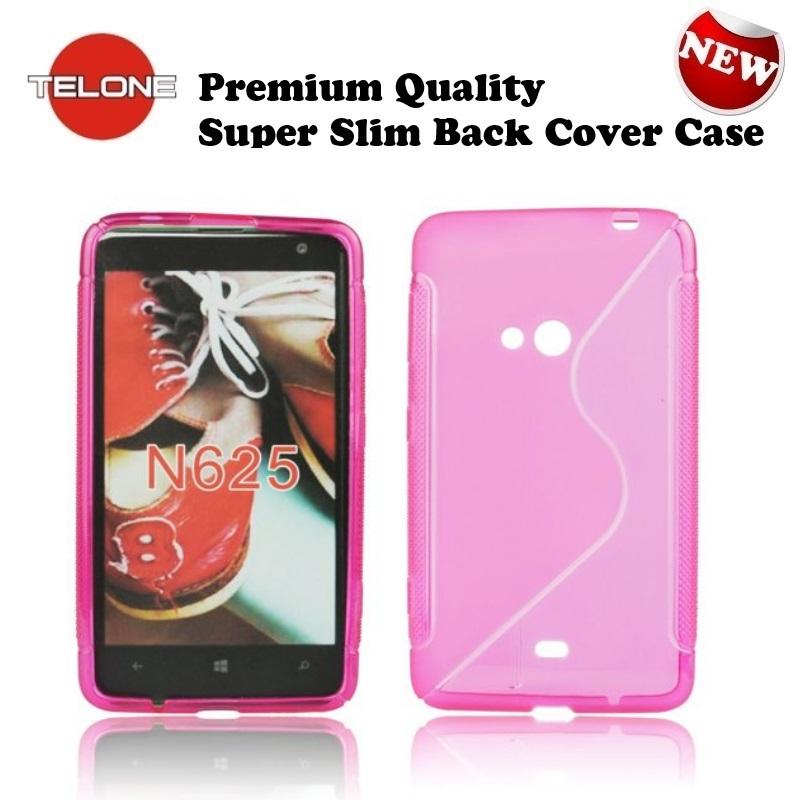 Telone Back Case S-Case gumijots telefona apvalks Nokia 625 aksesuārs mobilajiem telefoniem
