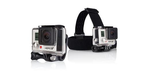 Go Pro stiprinājums ap galvu Head Strap Quick Clip aksesuāri sporta action kamerām