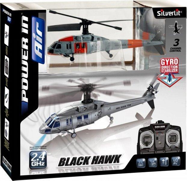 SILVERLIT I/R Black Hawk (3CH) 84506 Radiovadāmā rotaļlieta