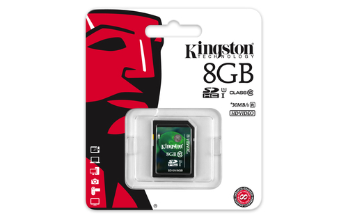 KINGSTON MEMORY SECURE DIGITAL HC 8GB/CLASS10 SD10V/8GB atmiņas karte