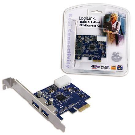 ACC PCI-Express card, 2 x  USB 3.0, datortīklu aksesuārs