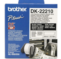 BROTHER TAPE ROLL PAPER 29MMX30,48M [DK22210] papīrs