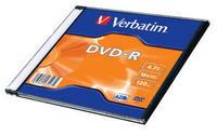 Verbatim DVD-R 16X 4.7GB Matte Silver Slim Box matricas