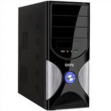 QoRi ATX-3340-A11-USB/Audio (silver/black) + ATX 350W (12cm/ Datora korpuss