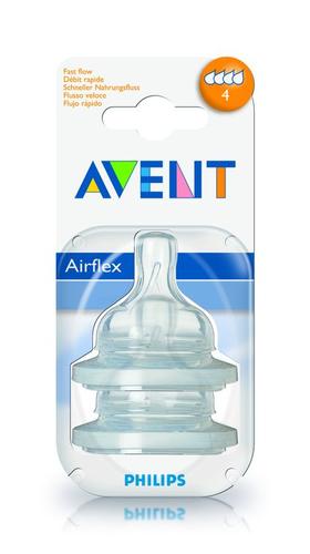 AVENT Barošanas pudeļu silikona knupīši 0M+, (2 gab) SCF631/27 bērnu barošanas pudelīte