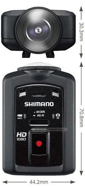 Shimano CM-1000 , Black sporta kamera