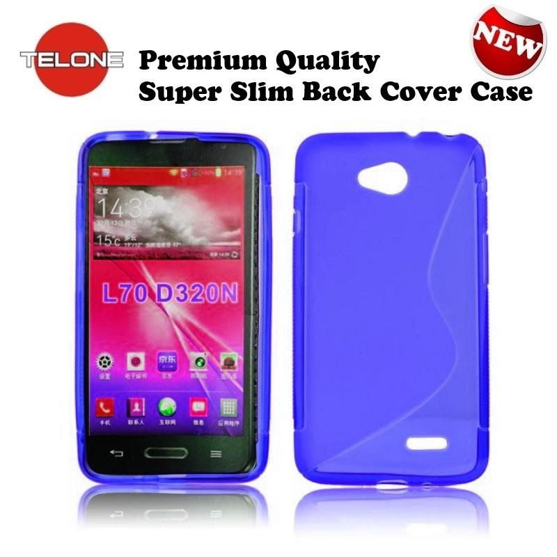 Telone Back Case S-Case gumijots telefona apvalks LG D320 aksesuārs mobilajiem telefoniem