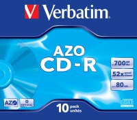 Verbatim CD-R 80/700MB 52X AZO CRYSTAL jewel box - 43327 matricas