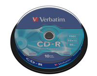 Verbatim CD-R 80/700MB 52X 10pack EXTRA PROTECTION cake box matricas