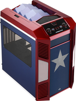 Aerocool Xpredator Cube Micro-ATX Gehause - blue/rot Datora korpuss